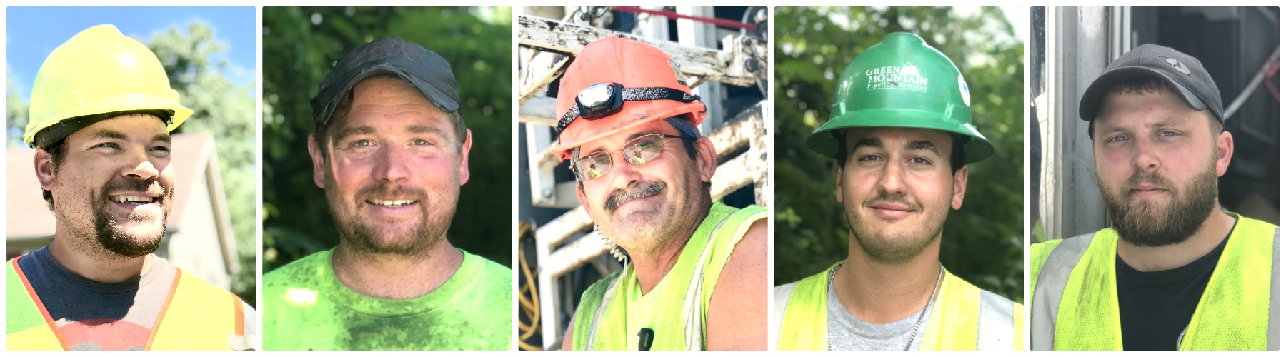 Faces of Mr Rehab + Green Mtn Pipeline Services